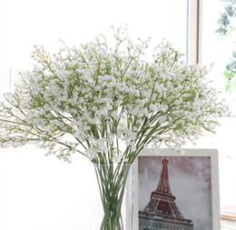Wholesale Pretty Homes - DHL FEDEX free Pretty Gypsophila Baby's Breath Soft Silicone Artificial Flowers Fake Flower Plant Home Wedding Decoration Wholesale