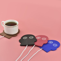 Wholesale Usb Heated Warmer Coffee Cup - Boyfriend silicone electric Insulation coaster USB warm cup heating device Office Coffee Tea Warmer Pad Mat
