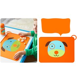 Wholesale Hot Pad Placemats - Cartoon Animal Placemat Silicone Waterproof for Baby Feeding Placemats Non-Slip Dining Table Mat Foldable and Portable Tablemats Pad Hot