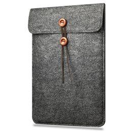 Wholesale Apple Macbook 13 Retina - Woolfelt Cover Case 11 13 15 Inch Protective Laptop Bag Sleeve for Apple Macbook Air Pro Retina Laptop Case Cover