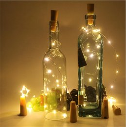 Tappo di bottiglia Tappo a forma di tappo Cork2M 20LED Plug Bottiglia di vino LED Night Lights Per Xmas Party Wedding Decor Halloween Migliore nuovo cheap decorative bottles corks da tappi decorativi di bottiglie fornitori