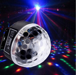 Wholesale Lamp Rgb Dmx - Newest Digital 20W AC85-265V LED RGB Crystal Magic Ball Effect Light DMX Disco DJ Stage Lighting Lamp Free shipping