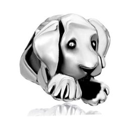 Wholesale Silver 925 Dog Charm - Fits Pandora Bracelets 10pcs Dog Puppy Charms Beads 925 Silver Charms Bead For Wholesale Diy European Necklace Jewelry Accessories Xmas
