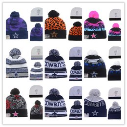 Wholesale Vogue Knitting Men - New Design High Quality football Skateboards beanie hat cap all football team winter beanies knitted skullies vogue Skull beanies