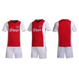 Wholesale Man Suits Wholesale - AFC Ajax hone and away soccer plate suit no brands have the team logos style soccer uniforms,