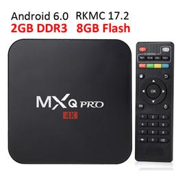 Wholesale Quad Performance - MXQ PRO Android 6.0 iptv box 8G rom RKMC17.4 RK3229 Quad core 2G Ram High performance 4k streaming media ott box