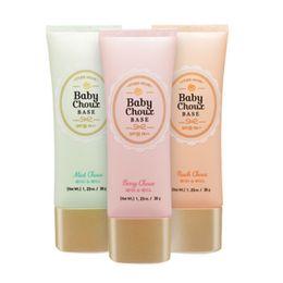 Wholesale Original Primer - Wholesale-Original Korean Sweet Recipe Baby Choux Base Foundation Primer Concealer Cream Makeup Moisturizer Whitening BB Cream SPF33 PA++