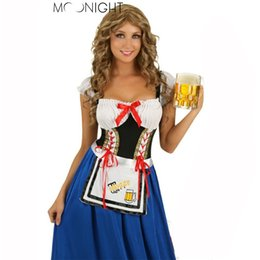 Wholesale Beer Maid Dress - Wholesale-Maid Service Uniforms Temptation Beer Girl Princess Dress Sexy Clothes Suit Costumes Halloween Oktoberfest Fancy Dress Cosplay