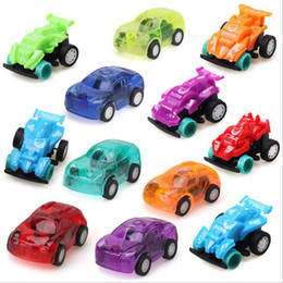 Wholesale Cartoon Pull Back Car - Mini Pull back car children cartoon inertia toy car model car toy ABS Christmas gift Plastic Clockwork