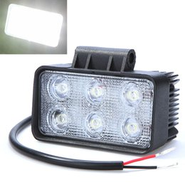 Wholesale Car Led Headlight Jeep - 6LED 18W Vehicle Work Light Led Car Fog Lamp Light Bulb for Jeep SUV ATV Off-road Truck 6000K IP67 Waterproof PMMA Lens order<$18no track