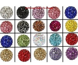 Wholesale Diy White Shamballa - 100pcs lot fasion best 10mm mixed multi color ball Crystal Shamballa Bead Bracelet Necklace Beads.Hot new beads Lot!Rhinestone DIY spacer