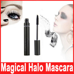 Wholesale Thick Volume Curling Mascara - Magical Halo 3D Mascara Black Waterproof Volume Express Curling Lengthen Eyelash Makeup Eye Lashs Cosmetics Hot In Stock