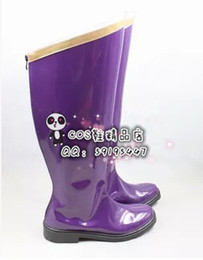 Wholesale Vocaloid Halloween Costumes - Wholesale-vocaloid Luka purple cos Cosplay Shoes Boots shoe boot #JZ308 anime Halloween Christmas