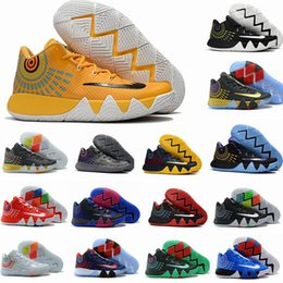Wholesale Kyrie Irving Shoes - 2017 New Kyrie Irving 4 Basketball Shoes for Cheap Sale Sneakers Sports Mens Shoe Wolf Grey Team Red Outdoor Trainers Basket Ball Boots
