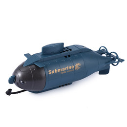 Wholesale Submarines Toys - RC Submarine Wireless 40MHz Remote Control Mini Submarine Speed Racing Boat Outdoor Adventure Pigboat Model Toys