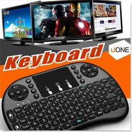 Wholesale Andriod Tv Box Keyboard - Air Mouse Combo 2.4G Mini i8 Wireless Keyboard,Touchpad combo with interface adapter for PC Pad Google Andriod TV Box Xbox360 PS3 (OTG)