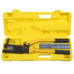 Wholesale Crimp Dies - 16 Ton Hydraulic Wire Terminal Crimper Battery Cable Lug Crimping Tool w Dies