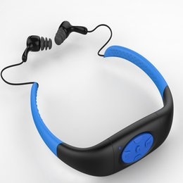 Wholesale Earphone Waterproof Mp3 Player - 2017 Hot sale IPX8 Waterproof MP3 Music Player Underwater Neckband Swimming Diving with Earphone Stereo Audio Headphone 4GB