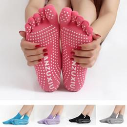 Wholesale Wholesale Fitness Socks - New women Rubber Yoga socks Gym Dance Sport Exercise Non Slip Massage Fitness Warm cotton Socks 5 toe socks 2209