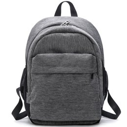 Wholesale Waterproof School Bags - 2017 Women Waterproof Canvas Backpacks Ladies Shoulder Bag Rucksack School Bags For Girls Travel Gray Blue Laptop Bags Red Black