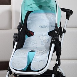 Wholesale Car Seat Covers Summer - Wholesale- New Summer Baby Stroller Mat Flax Plant Fiber Pushchair Stroller Car Seat Cushion Cover Pad Mattress Trolley By Mat