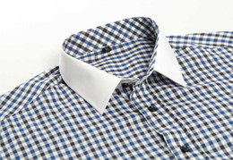 Wholesale Cheap Clothes For Male - American sizes high quality check men dress shirt business uniform for male cheap price clothing made in china
