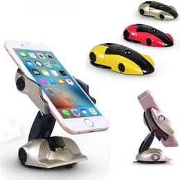 Wholesale Cars Shape Mobile - Racing Holder Car Holder Universal Racing Car Shaped Mobile Phone Stand Holder Mounts for iPad iPhone Samsung HTC Sony DHL OTH708