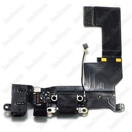 Wholesale Iphone 5c Dock - 100PCS New USB Dock Connector Charger Charging Port Flex Cable For iPhone 5 5s 5c DHL Shipping