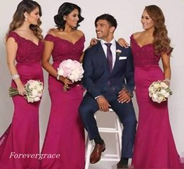 4ca8b8f41f790 2017 Cheap Off the Shoulder Bridesmaid Dress Mermaid Long Gala Garden  Formal Wedding Party Guest Maid of Honor Gown Plus Size Custom Made cheap  royal blue ...