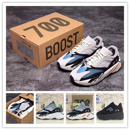 Wholesale fabric designs - 2017 High Quality Wave Runner 700 Real Boost Womens Mens Running Shoes Design By Kanye West Season5 700s Sneakers Men size 36-46