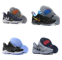 Wholesale Pe Lights - Paul George PG1 Elements Flip the Switch EYBL Home PE Glacier Grey Black Ice Ivory The Bait Blockbuster Light Aqua Basketball Shoes