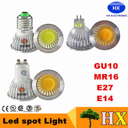 Wholesale E14 Led Cob Spot - 2016 Newest COB Led Bulbs Light 9W 12W GU10 Led Spot Lights Lamp High Lumens CRI>85 AC 110-240V DHL Free Shipping