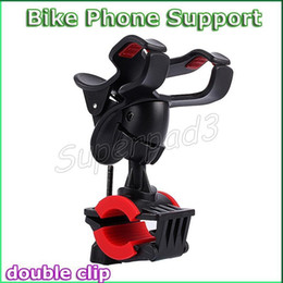 Wholesale Stretching Devices - Universal 360° Rotating Stretch Clip Bike Bicycle Motorcycle Stand For Mobile Phone GPS PDS MP4 MP5 Device Holder Mount Support Fast DHL