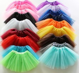 Wholesale Kids Wearing Mini Skirts - Girls Tulle Tutu Skirts Pettiskirt Fancy Skirts Dancewear Ballet Skirts Costume Princess Mini Dress Stage Wear Kids Baby Clothing KKA3023