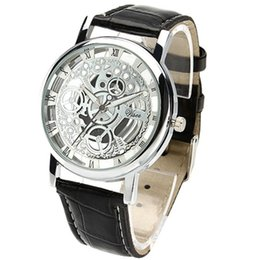Wholesale Cheap China Watch For Woman - mens fashion Luxury cheap watch hollow false mechanical watches for men women Couple wristwatch China Wristwatches wholesale 2016 gift new