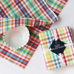 Wholesale Cotton Cloth Napkins Wholesale - 3pcs lot Pastoral Style 38x64cm Cloth Napkins 100% Cotton Home Cafe Table Napkin serviette de table kitchen coffee tea towels