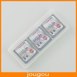 Wholesale Wholesale Ds Game Cards - 6 In 1 Game Card Cartridge Crystal Storage Carrying Case For DS DSL Lite DSi