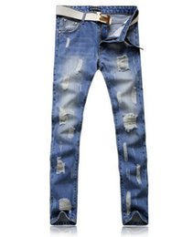 Wholesale Fashion Clothing Summer Youth - Summer the new tide of men's clothing han edition cultivate one's morality jeans fashion personality joker youth leisure hole pants   28-38