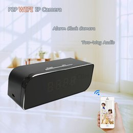 Wholesale Ip Cellphone - IP Wireless Spy Hidden Camera Clock Motion Detection Mini DVR Video Audio Recorder With Cellphone Computer