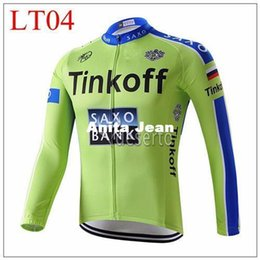 Canada 2015 tinkoff green Cycling Jerseys Autumn Long Sleeve Cycling Jerseys High-performance High Quality Racing Jersey Vêtement de vélo Offre