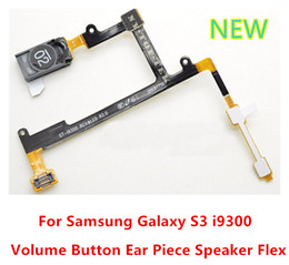 Wholesale 100 New Original Earpiece Ear Speaker Flex Cable Ribbon Volume Button Keypad Flat Flex Cable For Samsung Galaxy S3 i9300 T999 i747