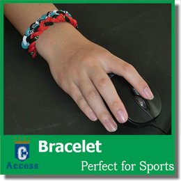 Wholesale Titanium Ionic Sports Bracelet Wholesale - Braided Titanium Ionic Sports Wristband Bracelet Energy Power