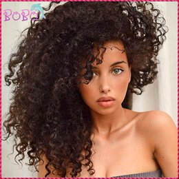 Wholesale Virgin Indian Curly Weave Hairstyles - Amazing Kinky Curly Virgin Hair Full Lace Wigs With Bleached Knots Weave Beauty Indian Virgin Hair Sexy Curly 8-26 inches
