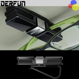 Wholesale Sunglasses Holder Clips - Automobile Interior Accessories Car Sun Visor Glasses Sunglasses Ticket Receipt Card Clip Storage Holder Free Shipping