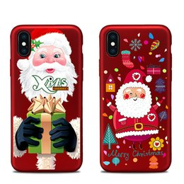 Wholesale Christmas Wine Gift Box - For apple iphoneX iphone 8 7 plus TPU box Merry Christmas gift snow elk All-inclusive anti-drop cell phone cases