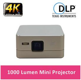 Wholesale Building Home Design - Factory Price!!! Newest Fashion Design P96 Mini DLP Projector 1080P Android 4.4 WiFi USB HDMI 100 LM Built in Speaker DLP Projector