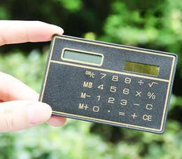 2019 moda financeira 2017 Quente! Calculadora de cartão novo / Calculadora Slim portátil / Calculadora Ultra-fina solar de escritório Suprimentos de escritório Frete grátis por atacado