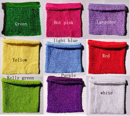 Wholesale Tube Top Lining - 10x12 inches Large lined Crochet Tutu Tube top for girls' tutu dress crochet pettiskirt tutu tops 10pcs per lot free shipping