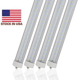 Wholesale Pin Stores - (25 Pack) Free Shipping LED Tube bulb 8FT F96 45W FA8 single pin Replace to existing fixture fluorescent Lamp 85-265V Stored in USA No Tax
