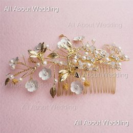 Wholesale Silver Butterfly Headband - Handmade Gold Flower Exquisite Luxury Butterfly Bridal Headband Dragon Fly Wedding Hair Accessory Photographer 2016 New Style